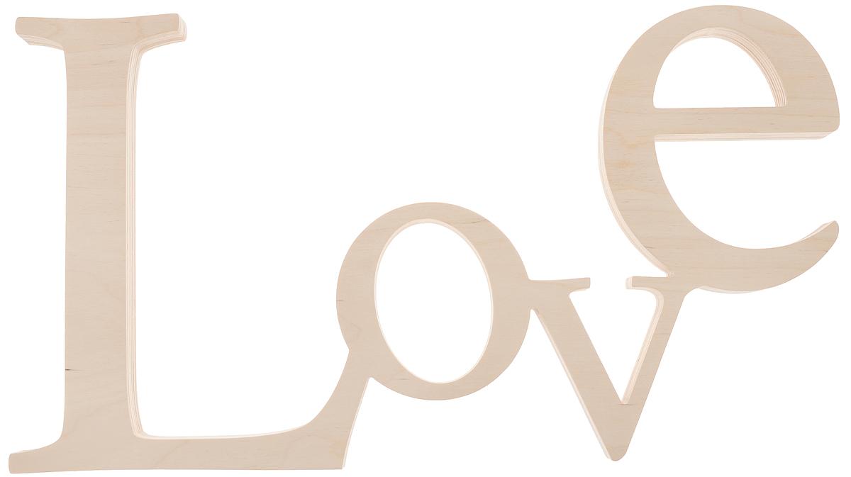 Табличка декоративная Magellanno Love3, некрашеная, 48 х 26 смDEC003FДекоративная табличка Magellanno Love3, выполненная из фанеры, идеально подойдет к интерьерам в стиле лофт, прованс, кантри, тем самым украсив любую комнату в вашем доме. А также табличка Оранжевый Слоник Love3 способна дополнить вашу фотосессию в день свадьбы и не только, придав ей оригинальности и смысла. Изделие ручной работы. Размер таблички: 48 х 26 см. Толщина таблички: 1,7 см.