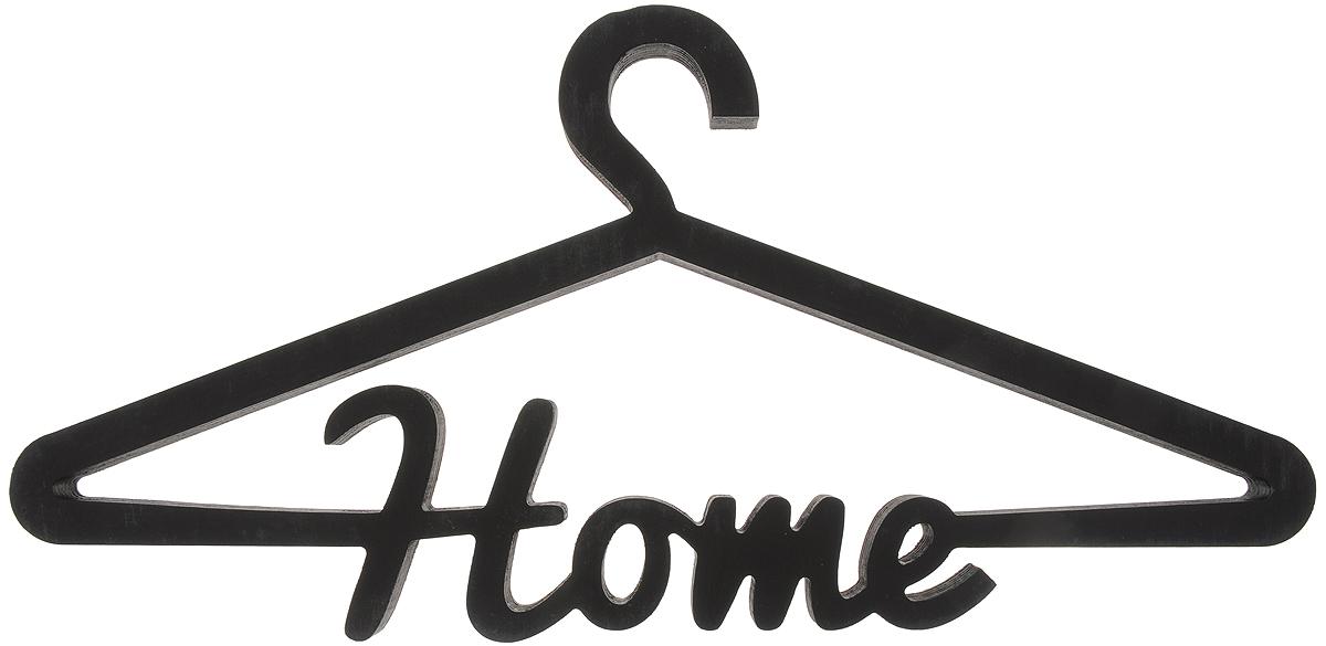 Вешалка для одежды Magellanno Home, декоративная, цвет: черный, 46 х 22 смDEC016BДекоративная вешалка для одежды Magellanno Home, выполненная из фанеры, идеально подойдет к интерьерам в стиле лофт, прованс, шебби-шик, тем самым украсив любую комнату в вашем доме. Именно такие уютные и приятные мелочи позволяют называть пространство, ограниченное четырьмя стенами, домом. Размер вешалки: 46 х 22 см. Толщина вешалки: 1,8 см.