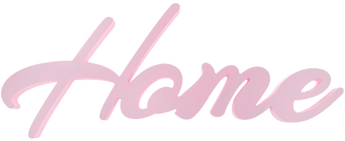 Табличка декоративная Magellanno Home1, цвет: розовый, 47 х 16 смDEC004SPДекоративная табличка Magellanno Home1, выполненная из фанеры, идеально подойдет к интерьерам в стиле лофт, прованс, шебби-шик, тем самым украсив любую комнату в вашем доме. Именно такие уютные и приятные мелочи позволяют называть пространство, ограниченное четырьмя стенами, домом. Размер таблички: 47 х 16 см. Толщина таблички: 1,8 см.