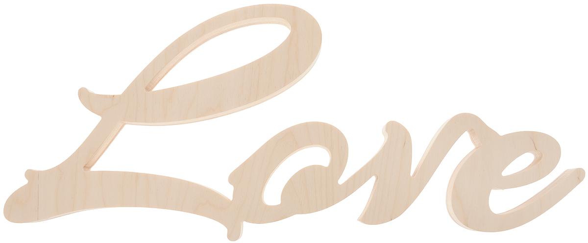 Табличка декоративная Magellanno Love1, некрашеная, 48 х 21 смDEC001FДекоративная табличка Magellanno Love1, выполненная из фанеры, идеально подойдет к интерьерам в стиле лофт, прованс, кантри, тем самым украсив любую комнату в вашем доме. А также табличка Оранжевый Слоник Love1 способна дополнить вашу фотосессию в день свадьбы и не только, придав ей оригинальности и смысла. Изделие ручной работы. Размер таблички: 48 х 21 см. Толщина таблички: 1,8 см.
