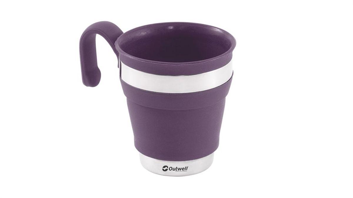 """Кружка Outwell """"Collaps Mug Plum"""", цвет: фиолетовый, 300 мл"""