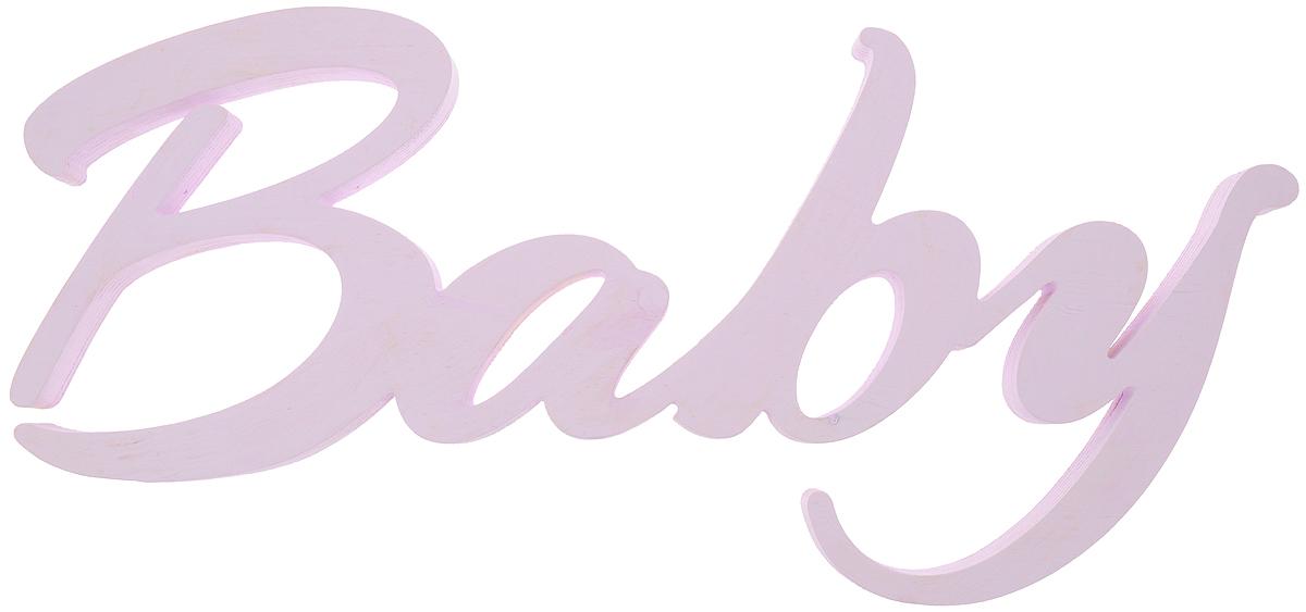 Табличка декоративная Magellanno Baby, цвет: фиолетовый, 48 х 21 смDEC013SPДекоративная табличка Magellanno Baby, выполненная из фанеры с эффектом старения, идеально подойдет к интерьерам в стиле лофт, прованс, кантри, тем самым украсив детскую комнату. А также табличка Оранжевый Слоник Baby способна дополнить вашу фотосессию с малышом и придать ей оригинальности и смысла. Изделие ручной работы. Размер таблички: 48 х 21 см. Толщина таблички: 1,8 см.