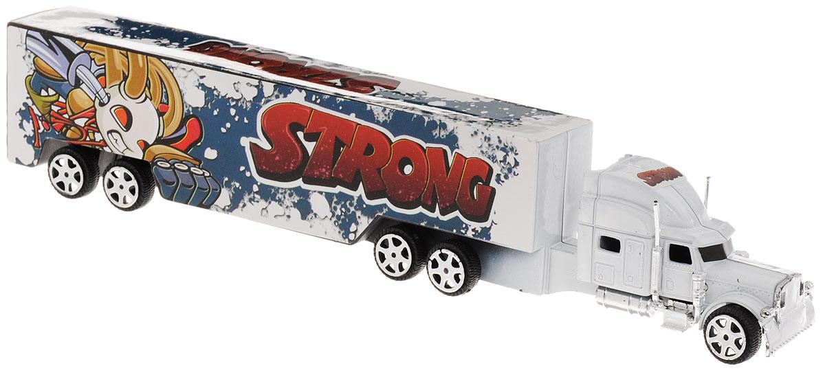 Junfa Toys Грузовик инерционный Strong цвет белый1078_белыйИнерционный грузовик Junfa Toys Strong станет прекрасным подарком для вашего малыша. Игрушка выполнена из прочного пластика в виде мощного грузовика. Машина оснащена инерционным механизмом. Достаточно немного отвести машинку назад, а затем отпустить, и она самостоятельно поедет вперед. Малыш проведет с этой игрушкой много увлекательных часов, разыгрывая различные ситуации. Ваш ребенок будет в восторге от такого подарка!