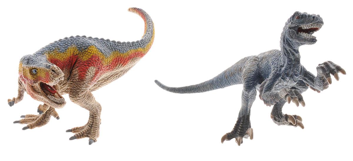 Schleich Набор фигурок Тиранозавр Рекс и Велоцераптор42216Набор фигурок Schleich Тиранозавр Рекс и Велоцераптор приведет в восторг всех любителей динозавров и доисторических животных. Великолепные фигурки динозавров выполнены очень детализировано. Они позволят ребенку придумать множество захватывающих игр со своими любимыми древними обитателями. Фигурки изготовлены из качественного материала, который безопасен для детей и не вызывает аллергию. Ребенок сможет собрать целую серию доисторических животных, сможет изучать особенности их строения, поведения и питания. Фигурки Schleich - превосходный педагогический материал для использования дома и в образовательных учреждениях. Набор фигурок станет достойным пополнением красочной коллекции игрушек Schleich, которые восхищают детей и взрослых во всем мире.
