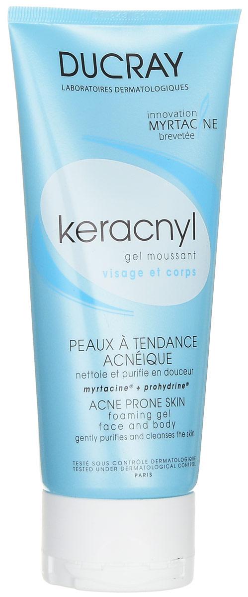 """Ducray Очищающий гель """"Keracnyl"""" для лица и тела, 200 мл"""