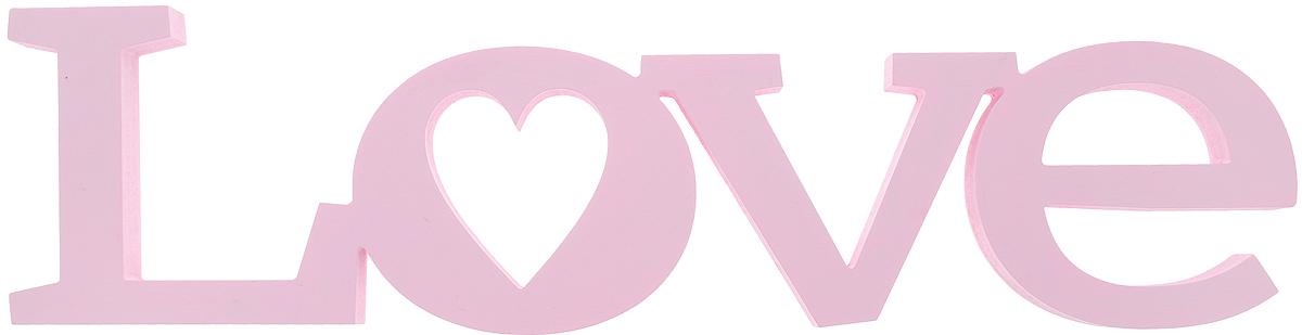 Табличка декоративная Magellanno Love2, цвет: розовый, 56 х 15 смDEC002SPДекоративная табличка Magellanno Love2, выполненная из фанеры, идеально подойдет к интерьерам в стиле лофт, прованс, кантри, тем самым украсив любую комнату в вашем доме. А также табличка Оранжевый Слоник Love2 способна дополнить вашу фотосессию в день свадьбы и не только, придав ей оригинальности и смысла. Изделие ручной работы. Размер таблички: 56 х 15 см. Толщина таблички: 1,8 см.