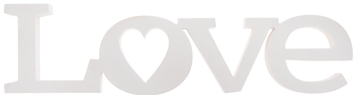 Табличка декоративная Magellanno Love2, цвет: белый, 56 х 15 смDEC002WДекоративная табличка Magellanno Love2, выполненная из фанеры, идеально подойдет к интерьерам в стиле лофт, прованс, кантри, тем самым украсив любую комнату в вашем доме. А также табличка Оранжевый Слоник Love2 способна дополнить вашу фотосессию в день свадьбы и не только, придав ей оригинальности и смысла. Изделие ручной работы. Размер таблички: 56 х 15 см. Толщина таблички: 1,8 см.