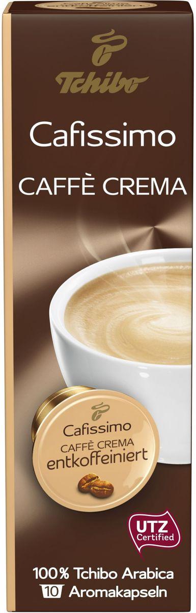 Cafissimo Caffe Crema Entkoffeiniert кофе в капсулах, 10 шт483648Кофе в капсулах Чибо Кафиссимо Кафе крема Энткоффеиниэрт отличается мягким вкусом и нежным бархатным ароматом. Бленд без кофеина состоит из зерен 100% Арабики из разных видов: Арабика из Бразилии придает кофе приятный аромат жареных орехов и наполняет его нежным цитрусовым вкусовым букетом; Арабика из Эфиопии добавляет легких пряных ноток и длительное бархатистое послевкусие; Арабика из Гватемалы насыщает ароматом тропических цветов и сладковатым ванильным вкусом. Состав: 100 % Арабика. Содержание кофеина: 0,1%. Интенсивность: 6/10. Количество: 10 капсул по 8 г. Регион: Бразилия, Эфиопия, Гватемала. Хранить в сухом прохладном месте