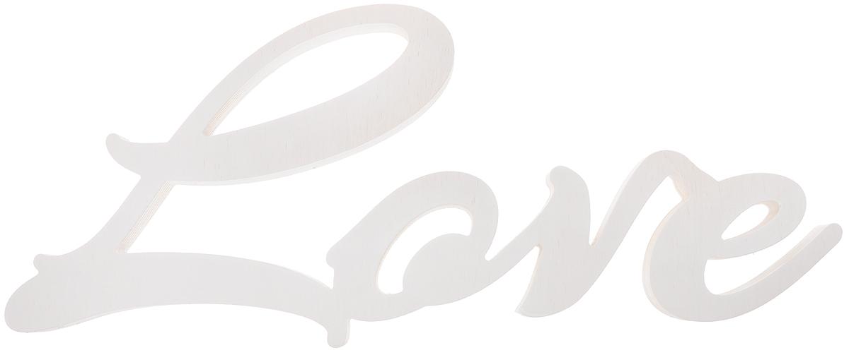 Табличка декоративная Magellanno Love1, цвет: белый, 48 х 21 смDEC001WДекоративная табличка Magellanno Love1, выполненная из фанеры, идеально подойдет к интерьерам в стиле лофт, прованс, кантри, тем самым украсив любую комнату в вашем доме. А также табличка Оранжевый Слоник Love1 способна дополнить вашу фотосессию в день свадьбы и не только, придав ей оригинальности и смысла. Изделие ручной работы. Размер таблички: 48 х 21 см. Толщина таблички: 1,8 см.