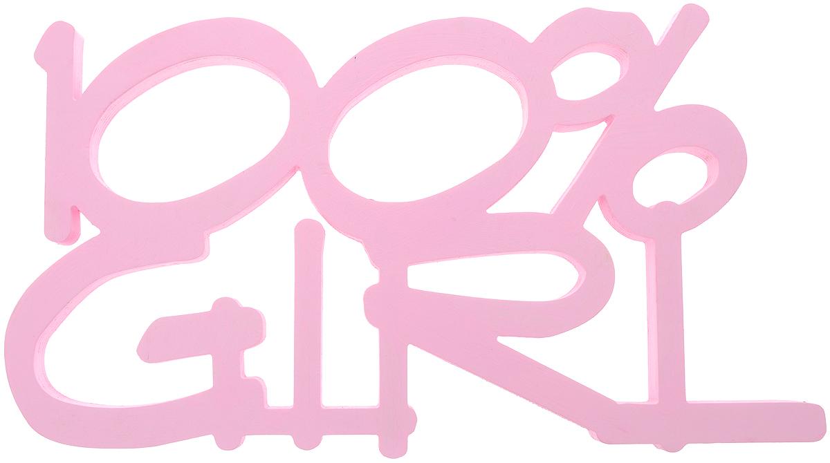 Табличка декоративная Magellanno 100% Girl, цвет: розовый, 48 х 26 смDEC014SPДекоративная табличка Magellanno 100% Girl, выполненная из фанеры, идеально подойдет к интерьерам в стиле лофт, прованс, шебби-шик, тем самым украсив любую комнату в вашем доме. А также табличка Оранжевый Слоник 100% Girl способна дополнить вашу фотосессию, придав ей оригинальности и смысла. Изделие ручной работы. Размер таблички: 48 х 26 см. Толщина таблички: 1,8 см.
