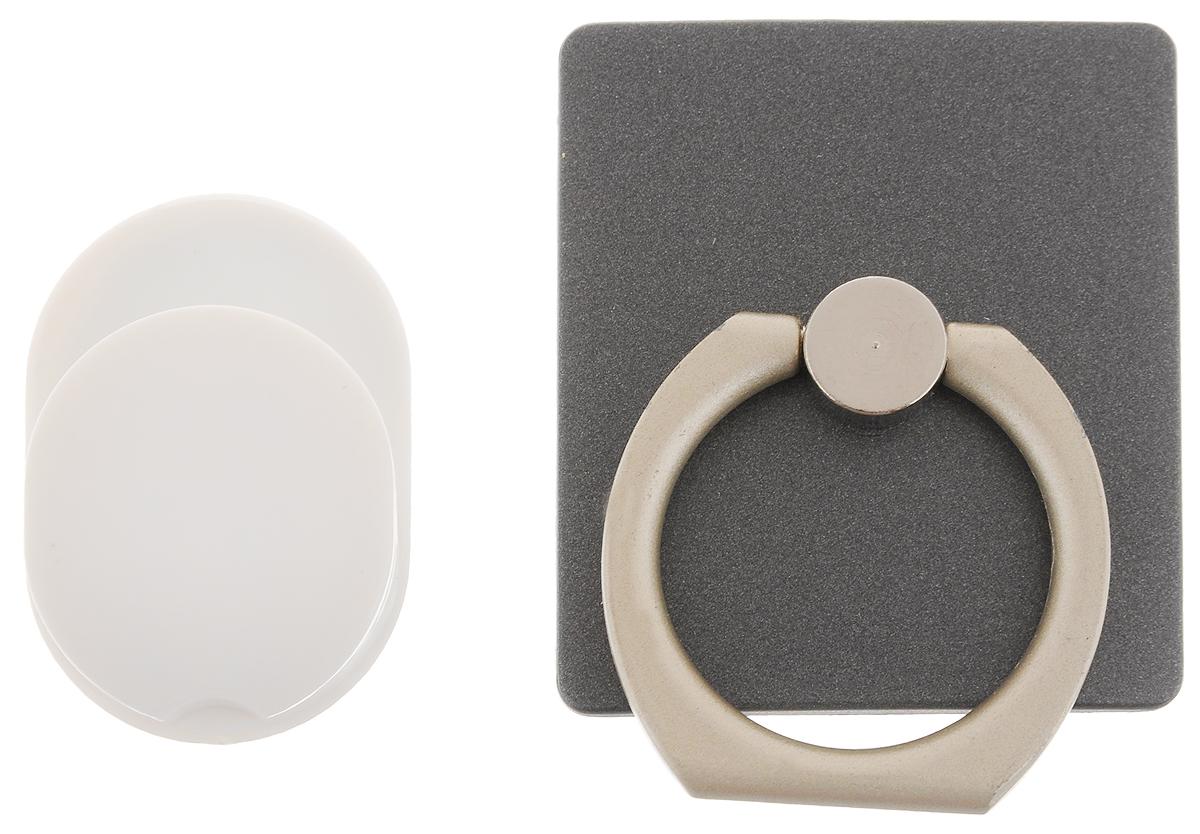 Держатель телефона Оранжевый слоник ACL, с кольцом, цвет: черный, белыйACL0005BДержатель телефона Оранжевый Слоник ACL, изготовленный из пластика и металла, позволит надежно и безопасно закрепить ваш телефон в необходимом месте. Это практичный и функциональный аксессуар, который порадует любого. Размер держателя: 3,5 х 4 см. Диаметр кольца: 2,15 см.