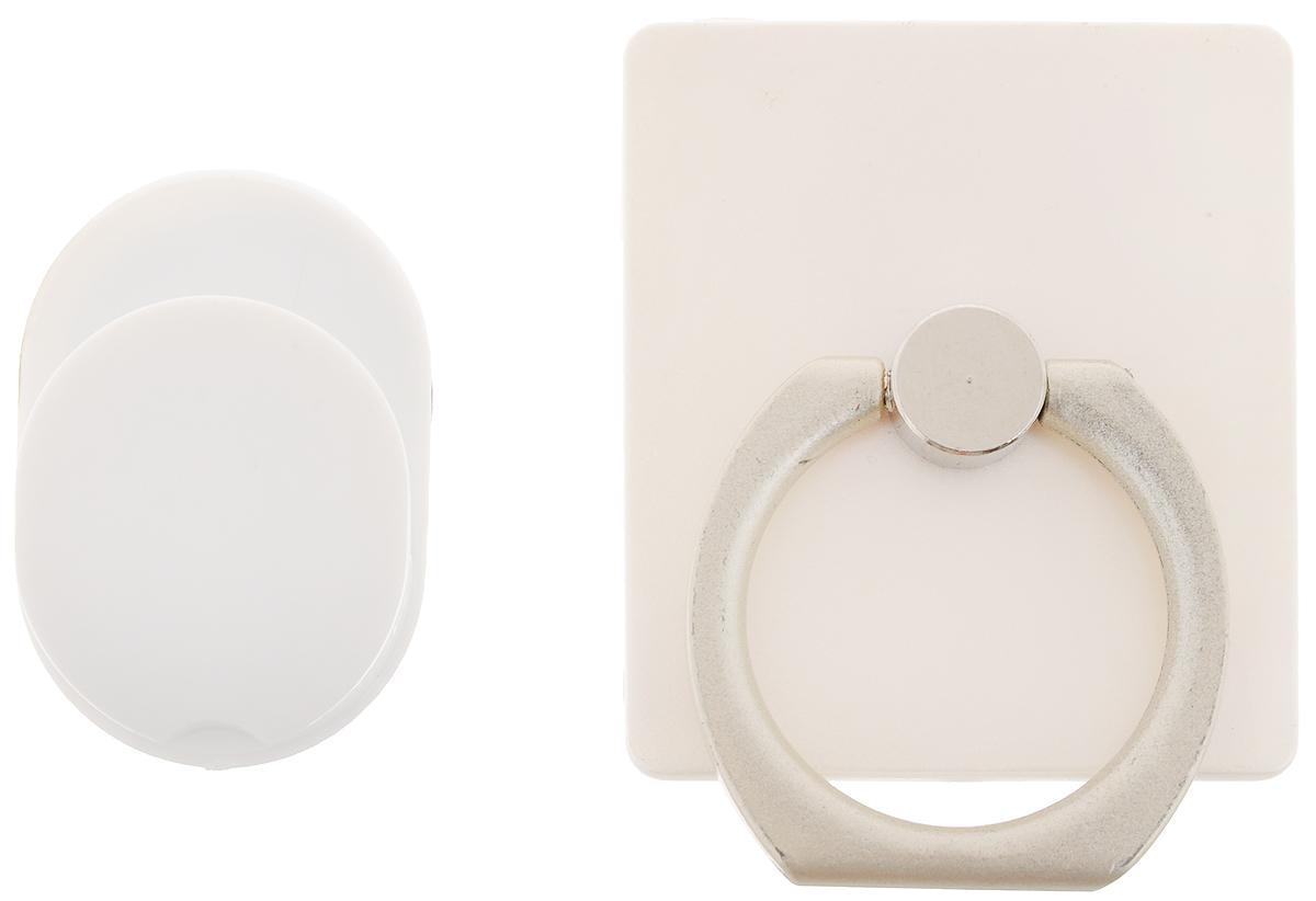 Держатель телефона Оранжевый слоник ACL, с кольцом, цвет: белый, серыйACL0005WДержатель телефона Оранжевый Слоник ACL, изготовленный из пластика и металла, позволит надежно и безопасно закрепить ваш телефон в необходимом месте. Это практичный и функциональный аксессуар, который порадует любого. Размер держателя: 3,5 х 4 см. Диаметр кольца: 2,15 см.