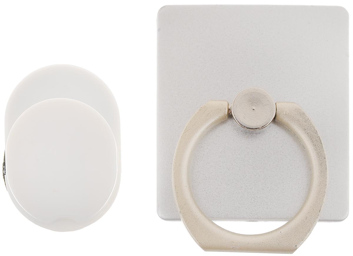 Держатель телефона Оранжевый слоник ACL, с кольцом, цвет: серебристый, белыйACL0005SДержатель телефона Оранжевый Слоник ACL, изготовленный из пластика и металла, позволит надежно и безопасно закрепить ваш телефон в необходимом месте. Это практичный и функциональный аксессуар, который порадует любого. Размер держателя: 3,5 х 4 см. Диаметр кольца: 2,15 см.