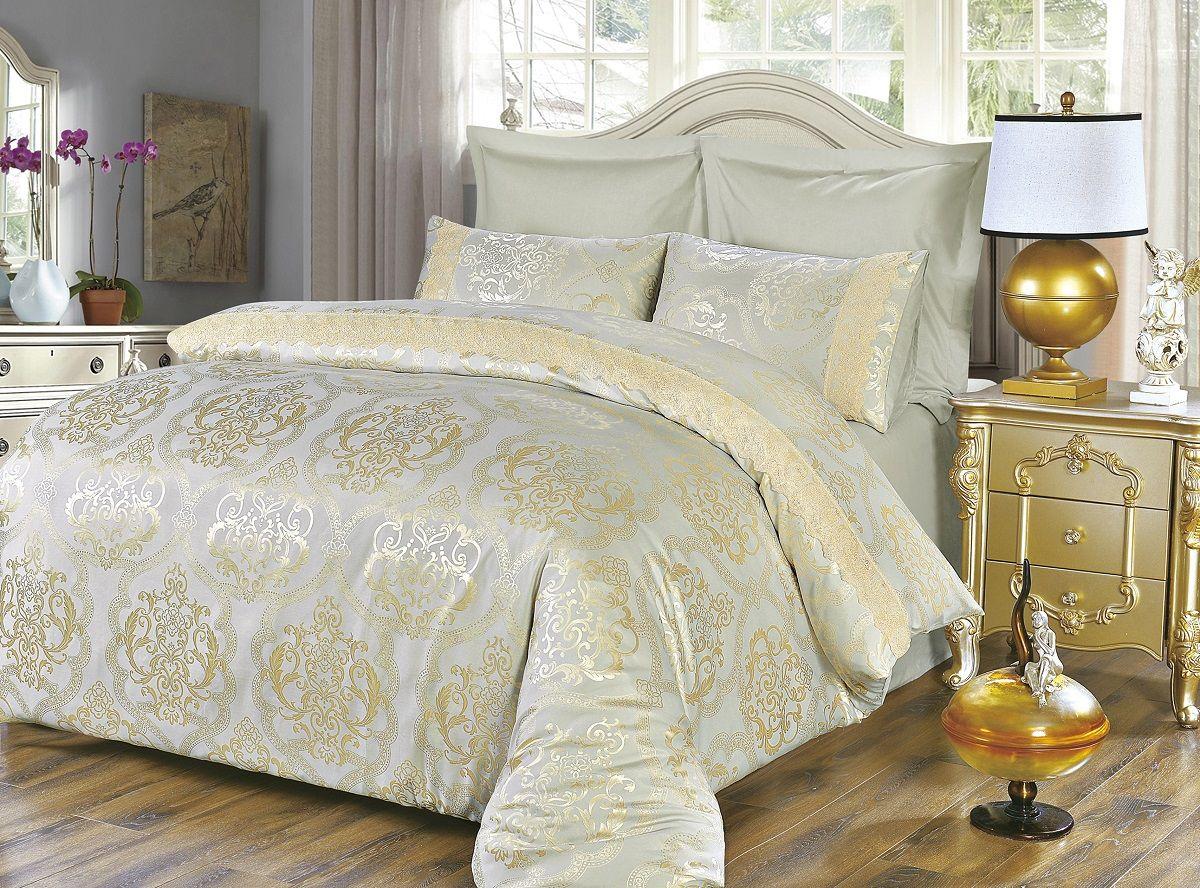 Комплект белья Modalin, 2-спальный, наволочки 50х70, 70x70. 50585058Комплект постельного белья Modalin, выполненный из сатина (100% хлопка), создан для комфорта и роскоши. Комплект состоит из пододеяльника, простыни и 4 наволочек. Постельное белье оформлено оригинальным орнаментом и кружевом. Пододеяльник застегивается на молнию, что позволяет одеялу не выпадать из него. Сатин - хлопчатобумажная ткань полотняного переплетения, одна из самых красивых, прочных и приятных телу тканей, изготовленных из натурального волокна. Благодаря своей шелковистости и блеску сатин называют хлопковым шелком.