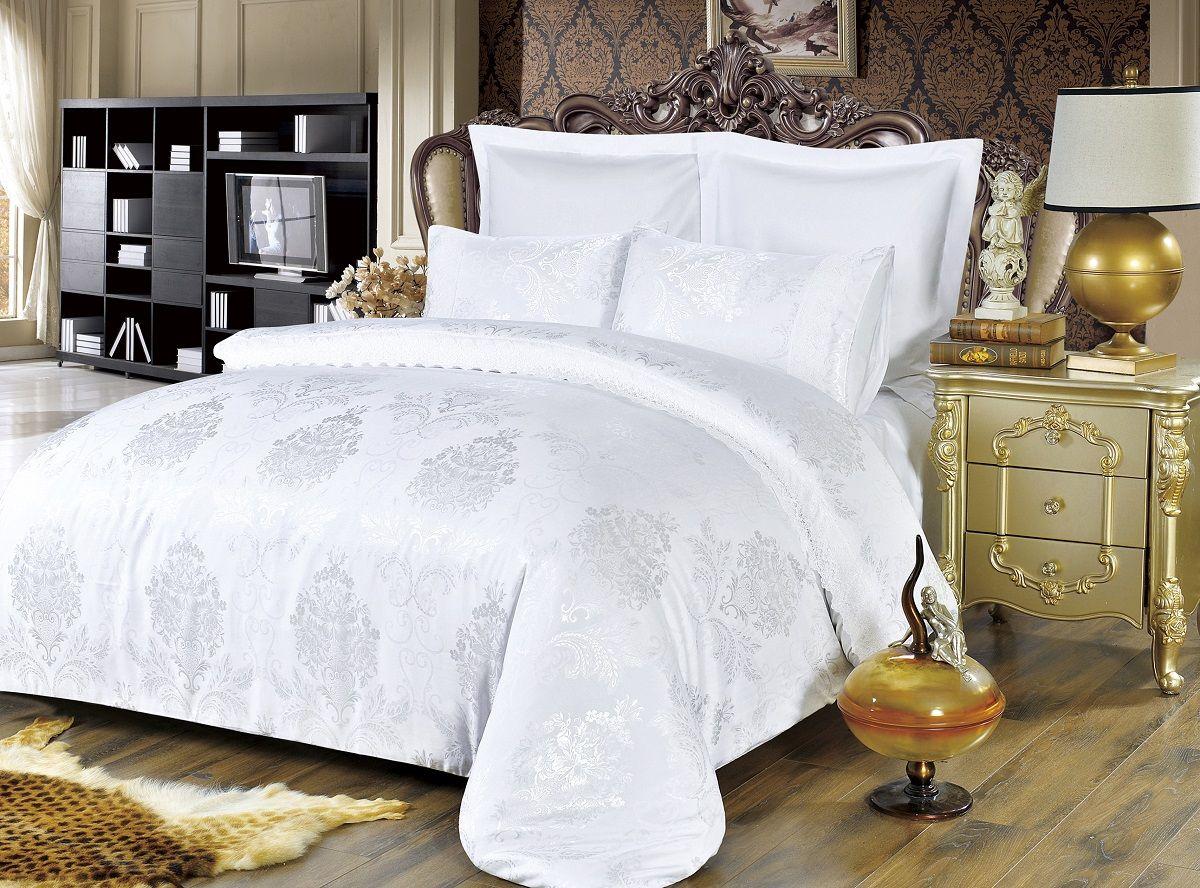 Комплект белья Modalin, 2-спальный, наволочки 50х70, 70x70. 50645064Комплект постельного белья Modalin, выполненный из сатина (100% хлопка), создан для комфорта и роскоши. Комплект состоит из пододеяльника, простыни и 4 наволочек. Постельное белье оформлено оригинальным орнаментом и кружевом. Пододеяльник застегивается на молнию, что позволяет одеялу не выпадать из него. Сатин - хлопчатобумажная ткань полотняного переплетения, одна из самых красивых, прочных и приятных телу тканей, изготовленных из натурального волокна. Благодаря своей шелковистости и блеску сатин называют хлопковым шелком.