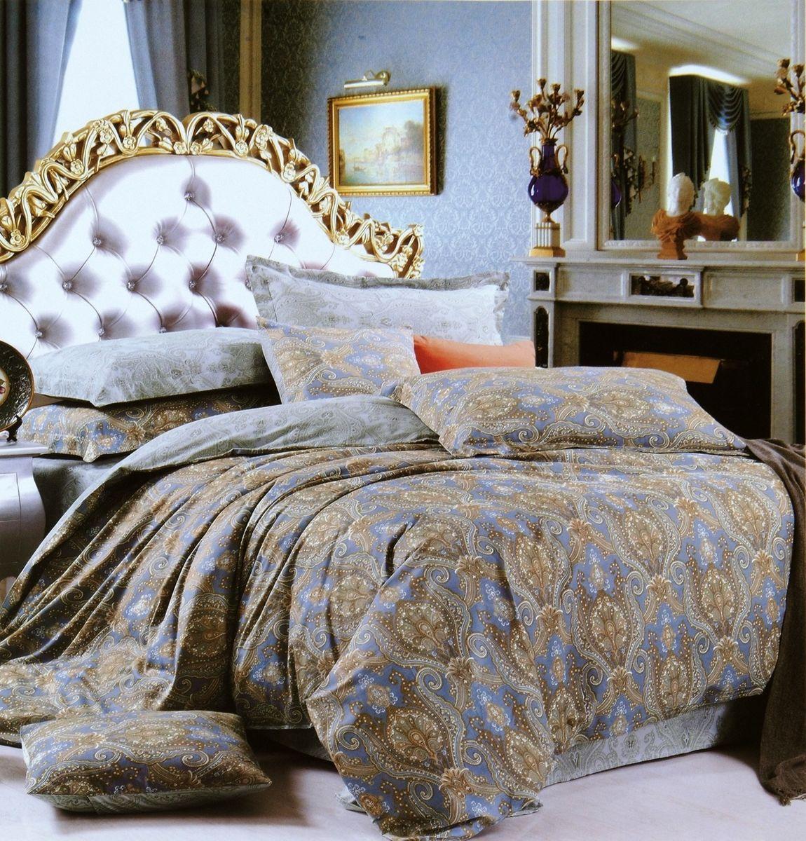 Комплект белья Modalin Eniko, 2-спальный, наволочки 50х70, 70x70464/13Комплект постельного белья Modalin, выполненный из сатина (100% хлопка), создан для комфорта и роскоши. Комплект состоит из пододеяльника, простыни и 4 наволочек. Постельное белье оформлено оригинальным орнаментом. Пододеяльник застегивается на пуговицы, что позволяет одеялу не выпадать из него. Сатин - хлопчатобумажная ткань полотняного переплетения, одна из самых красивых, прочных и приятных телу тканей, изготовленных из натурального волокна. Благодаря своей шелковистости и блеску сатин называют хлопковым шелком.