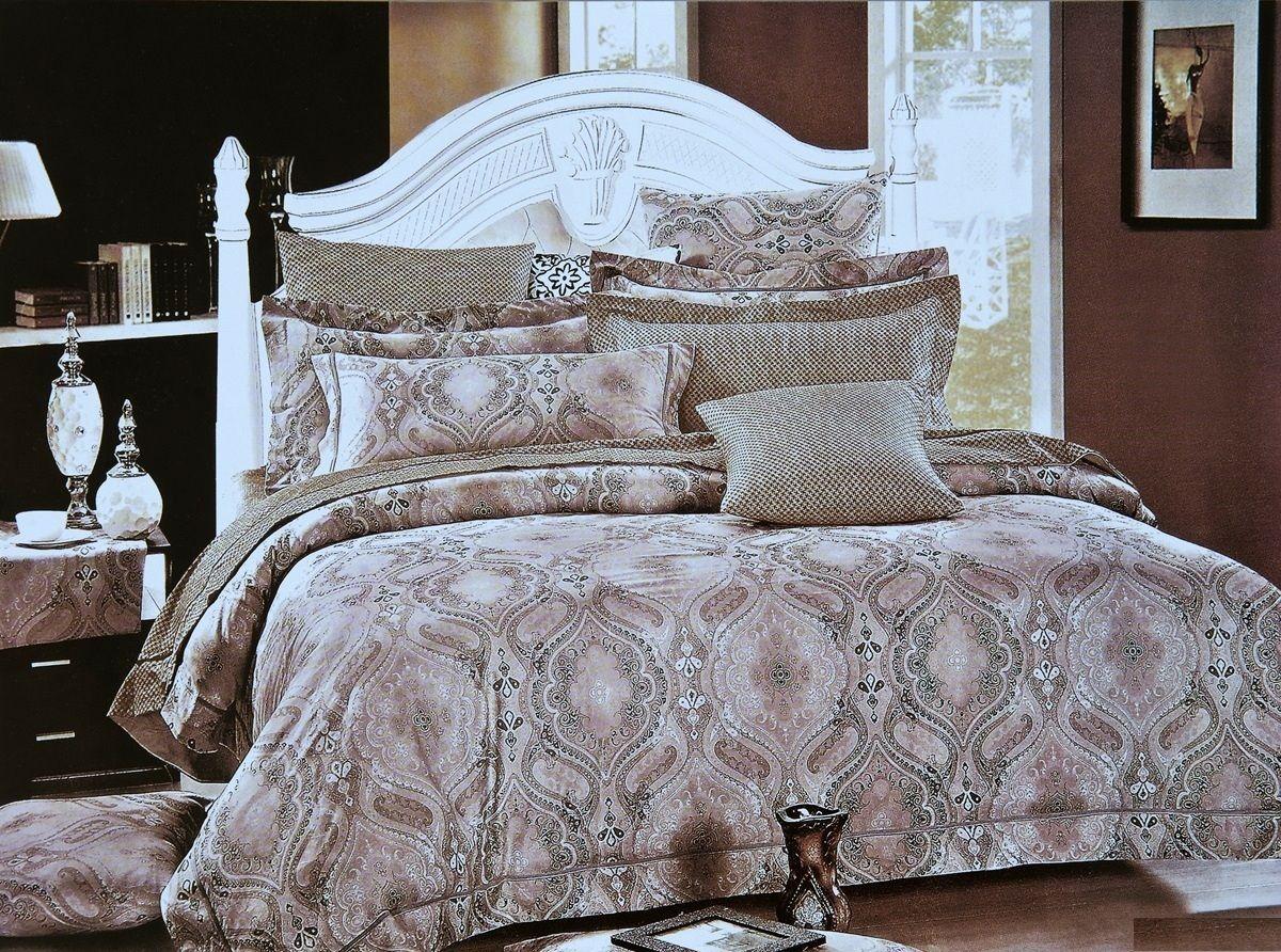 Комплект белья Modalin Decol, 2-спальный, наволочки 50х70, 70x70464/8Комплект постельного белья Modalin, выполненный из сатина (100% хлопка), создан для комфорта и роскоши. Комплект состоит из пододеяльника, простыни и 4 наволочек. Постельное белье оформлено оригинальным орнаментом. Пододеяльник застегивается на пуговицы, что позволяет одеялу не выпадать из него. Сатин - хлопчатобумажная ткань полотняного переплетения, одна из самых красивых, прочных и приятных телу тканей, изготовленных из натурального волокна. Благодаря своей шелковистости и блеску сатин называют хлопковым шелком.