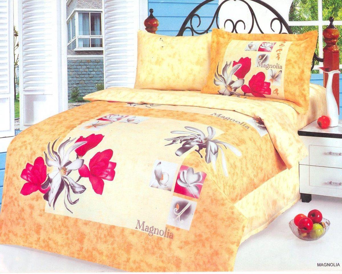 Комплект белья Le Vele Magnolia, 2-спальный, наволочки 50х70740/90Комплект постельного белья Le Vele Magnolia, выполненный из сатина (100% хлопка), создан для комфорта и роскоши. Комплект состоит из пододеяльника, простыни и 4 наволочек. Постельное белье оформлено оригинальным рисунком. Пододеяльник застегивается на кнопки, что позволяет одеялу не выпадать из него. Сатин - хлопчатобумажная ткань полотняного переплетения, одна из самых красивых, прочных и приятных телу тканей, изготовленных из натурального волокна. Благодаря своей шелковистости и блеску сатин называют хлопковым шелком.