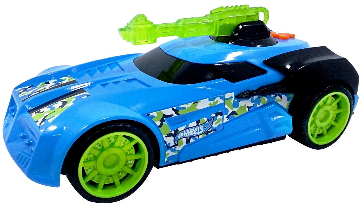 Hot Wheels Машинка Turbo TurretHW91616Машинка Hot Wheels Turbo Turret - замечательный подарок для мальчика к любому празднику! У машины массивные мощные колеса и яркий, агрессивный дизайн с использованием голубого и светло-зеленого цветов. Игрушка оснащена звуковыми и световыми эффектами, благодаря чему игра с ней становится еще более интересной и увлекательной! Машинка выполнена из высококачественных ударопрочных материалов, такая игрушка станет надежной и долговечной. Рекомендуется докупить 3 батарейки напряжением 1,5V типа AG13/LR44 (товар комплектуется демонстрационными).