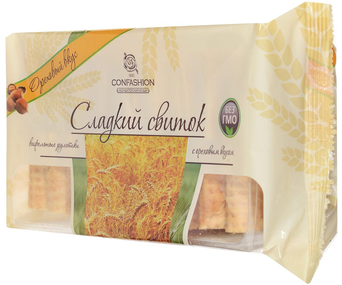 Конфэшн Сладкий свиток вафельные рулетики с ореховым вкусом, 370 г