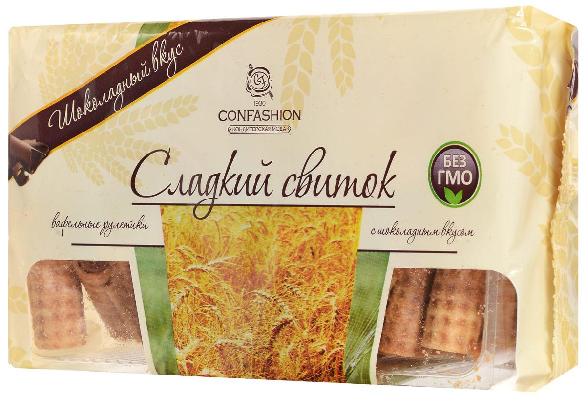 Конфэшн Сладкий свиток вафельные рулетики с шоколадным вкусом, 370 г