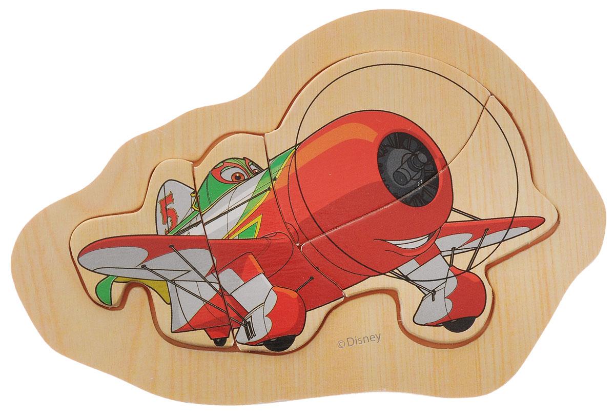 Disney Пазл для малышей Самолеты Эль Чупакабра1120538_красный, зеленыйПазл для малышей Disney Самолеты. Эль Чупакабра - это деревянная основа, в которой вырезано углубление. В нем собираются элементы пазла. Собрав этот пазл, включающий в себя 4 элемента, вы получите изображение озорного самолета из всем известного мультфильма. Собирание пазла развивает у ребенка мелкую моторику рук, тренирует наблюдательность, логическое мышление, знакомит с окружающим миром, с цветом и разнообразными формами, учит усидчивости и терпению, аккуратности и вниманию.