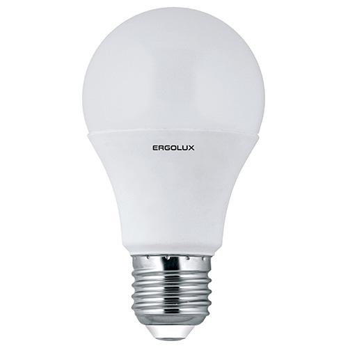 Лампа светодиодная Ergolux LED-A60-10W-E27-4K, холодный свет, 10 Вт12149Светодиодные лампы Ergolux - новое решение в светотехнике. Светодиодная лампа экономит много электроэнергии благодаря низкой потребляемой мощности. Они идеальны для основного и акцентного освещения интерьеров, витрин, декоративной подсветки. Кроме того, они создают уютную атмосферу и позволяют экономить электроэнергию уже с первого дня использования.