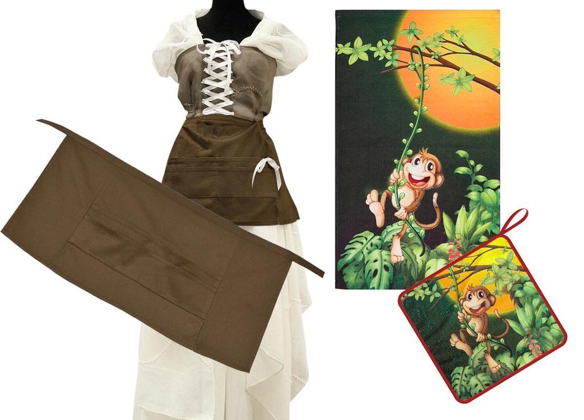Комплект кухонный Soavita Monkey, 3 предмета. 8219482194Перед использованием постирать при температуре не выше 40 градусов