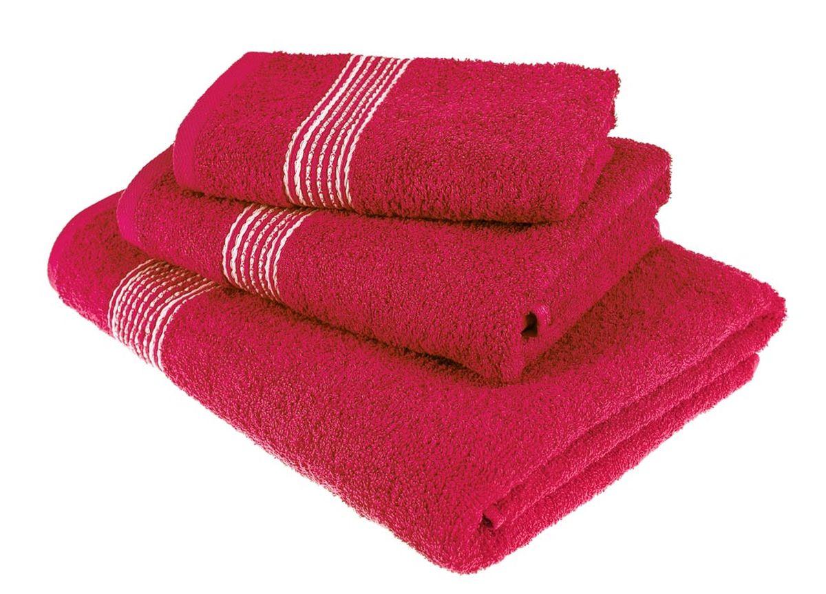Набор полотенец Тако Текстиль, цвет: красный, 3 шт. 8814488144Перед использованием постирать при температуре не выше 40 градусов
