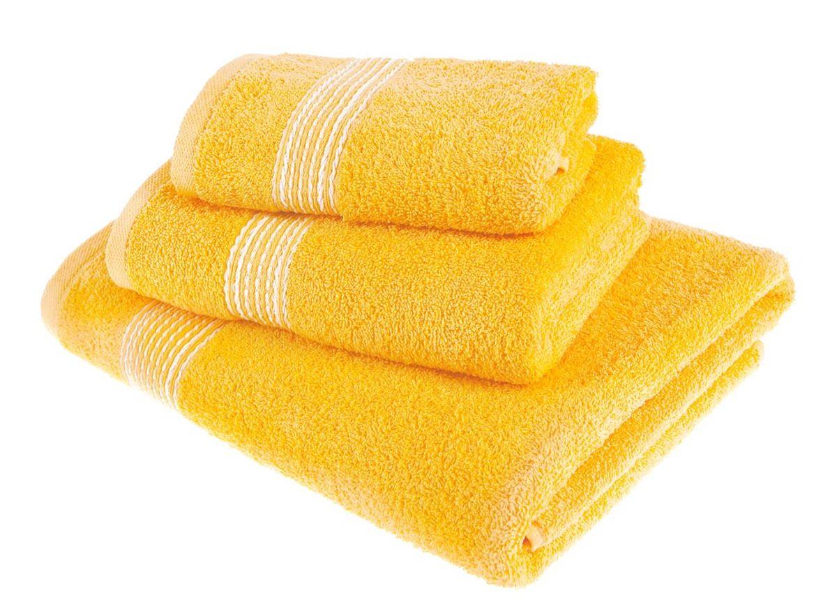 Набор полотенец Тако Текстиль, цвет: желтый, 3 шт. 8814788147Перед использованием постирать при температуре не выше 40 градусов
