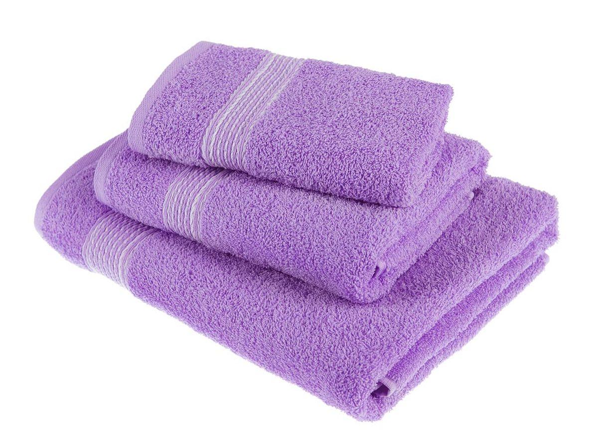 Набор полотенец Тако Текстиль, цвет: сиреневый, 3 шт. 8817888178Перед использованием постирать при температуре не выше 40 градусов