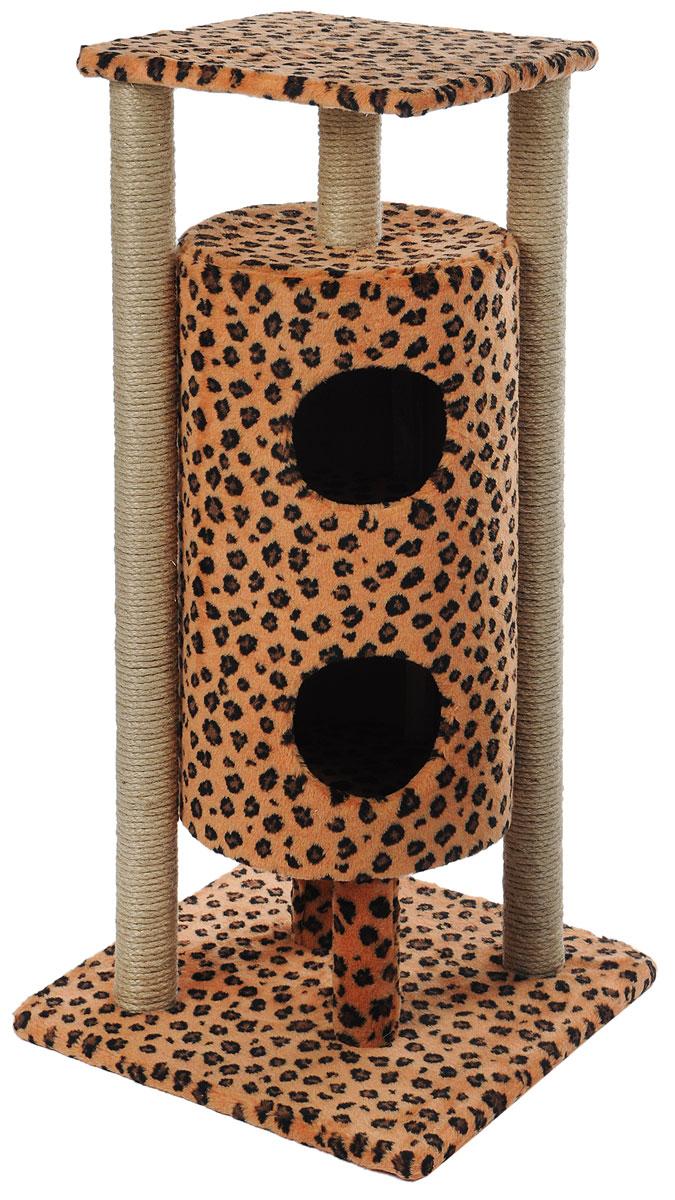 Домик-когтеточка Меридиан Ракета, 5-ярусный, цвет: коричневый, черный, 51 х 51 х 104 смД527ЛеДомик-когтеточка Меридиан Ракета выполнен из высококачественных материалов. Изделие предназначено для кошек. Уютный, домик имеет 5 ярусов. Изделие обтянуто искусственным мехом, а столбики изготовлены из джута. Ваш домашний питомец будет с удовольствием точить когти о специальные столбики. Второй и третий ярус выполнен в виде нор, где можно укрыться от посторонних глаз. Места хватит для нескольких питомцев. Домик-когтеточка Меридиан Ракета принесет пользу не только вашему питомцу, но и вам, так как он сохранит мебель от когтей и шерсти. Общий размер: 51 х 51 х 104 см. Размер нижней полки: 51 х 51 см. Размер верхней полки: 41 х 41 см. Высота двух домиков: 61 см. Диаметр домиков: 36 см.