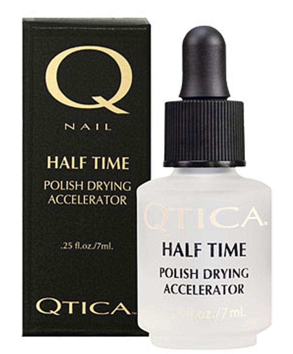 Zoya-Qtica Средство для быстрого высыхания лака для ногтей Qtica Халф Тайм, 7 млQTHT0RКЛЮЧЕВОЕ СВОЙСТВО Подсушивает лак полностью до базового покрытия в течение 5-7 минут! ПРЕИМУЩЕСТВА Сушка Half Time Polish Drying Accelerator подсушивает все слои лака, одновременно препятствуя смешиванию слоев ба- зового покрытия, цвета и верхнего покрытия, предотвращая отслаивание лака и продлевая стойкость лака на 50%. ИНГРЕДИЕНТЫ Жидкокристаллические соединения и силикон.