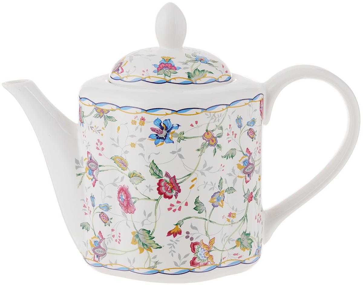 Чайник заварочный House & Holder, цвет: белый, красный, синий, 1 лLUNA09-1104Заварочный чайник House & Holder сочетает в себе изысканный дизайн с максимальной функциональностью. Красочность оформления придется по вкусу и ценителям классики, и тем, кто предпочитает современный стиль. Чайник выполнен из фаянса. Нежный цветочный рисунок придает модели особый шарм, который понравится каждому. Размеры чайника (с учетом ручки и крышки): 24,5 см х 11 см х 18,5 см. Объем чайника: 1 л.