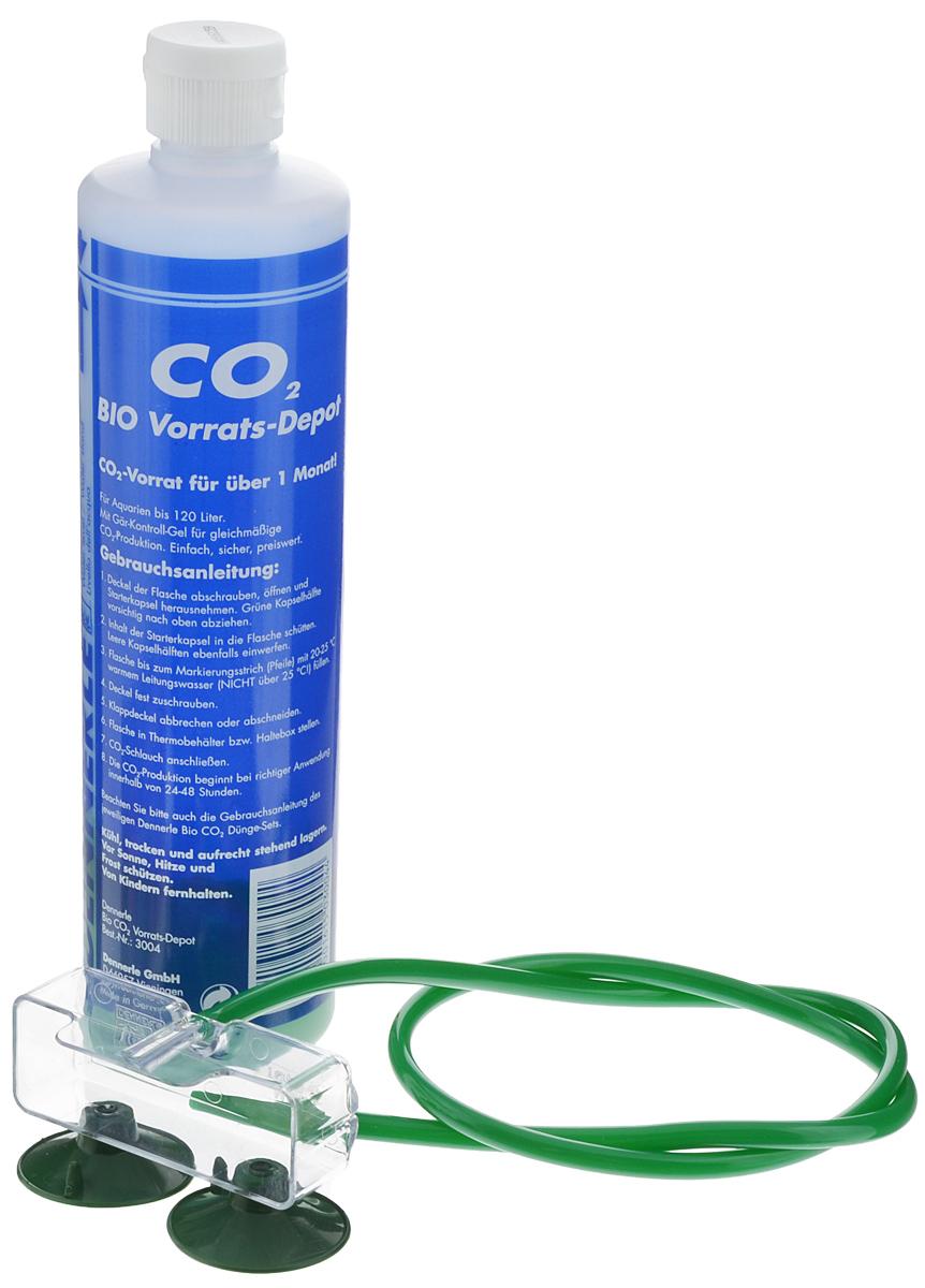 Установка в аквариум Dennerle BIO 60 CO2 StarterSet, для подачи СО2DEN3007Установка в аквариум Dennerle BIO 60 CO2 StarterSet предназначена для подачи СО2 в аквариум. Подходит для аквариумов объемов до 60 л. Комплект включает в себя: - Реакционный баллон для производства СО2 с контролируемым гелем; - Держатель баллона; - Реактор СО2 Dennerle Mini-Topper; - Шланг для CO2.