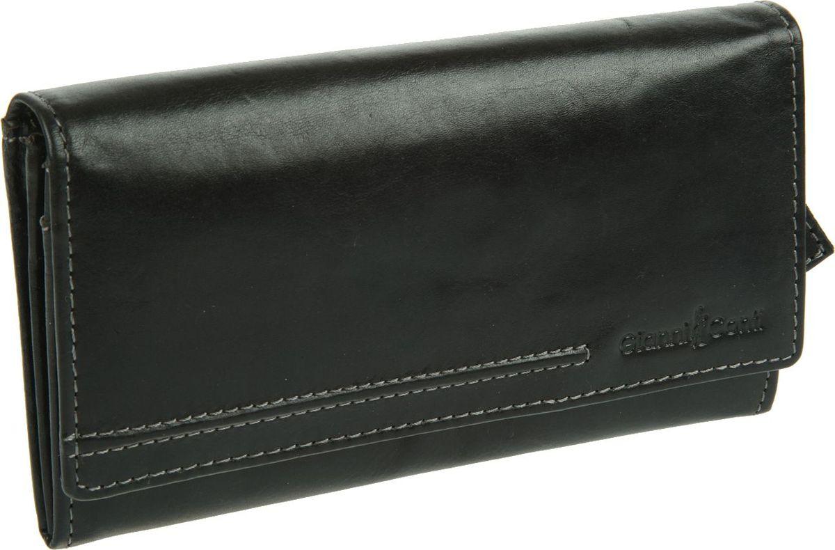 Портмоне женское Gianni Conti, цвет: черный. 708150708150Портмоне женское Gianni Conti выполнено из натуральной кожи. Модель закрывается широким клапаном на кнопке, внутри два отдела для купюр, между ними отдел на молнии, два кармана для документов, шесть кармашков для пластиковых карт, сетчатое отделение для пропуска, на передней стенке под клапаном два кармана, один из них на молнии, снаружи на задней стенке два кармана, один из них на молнии.