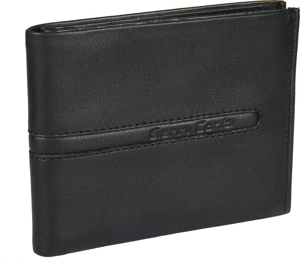 Портмоне мужское Gianni Conti, цвет: черный. 587416587416раскладывается пополам внутри два отдела для купюр два потайных кармана двенадцать кармашков для пластиковых карт
