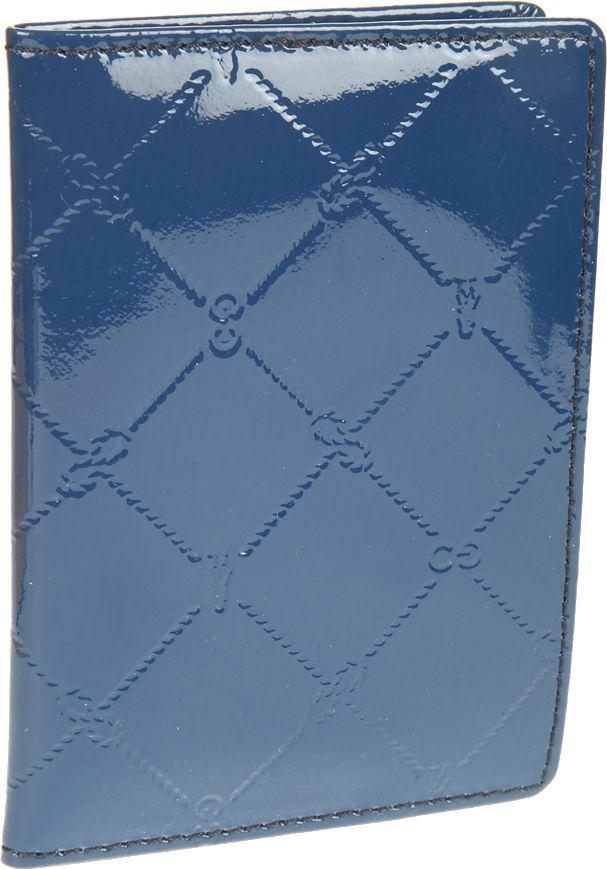 Обложка для паспорта женская Gianni Conti, цвет: синий. 37774933777493раскладывается пополам
