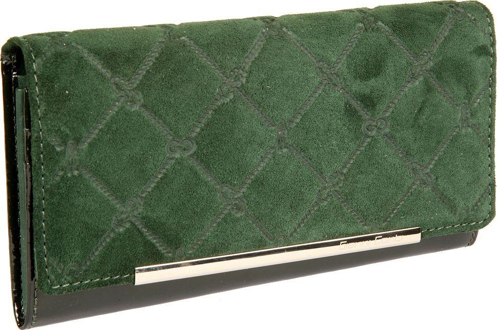Портмоне женское Gianni Conti, цвет: зеленый. 36282543628254закрывается широким клапаном на кнопке внутри два отдела для купюр карман для мелочи на молнии три кармана для документов десять кармашков для пластиковых карт