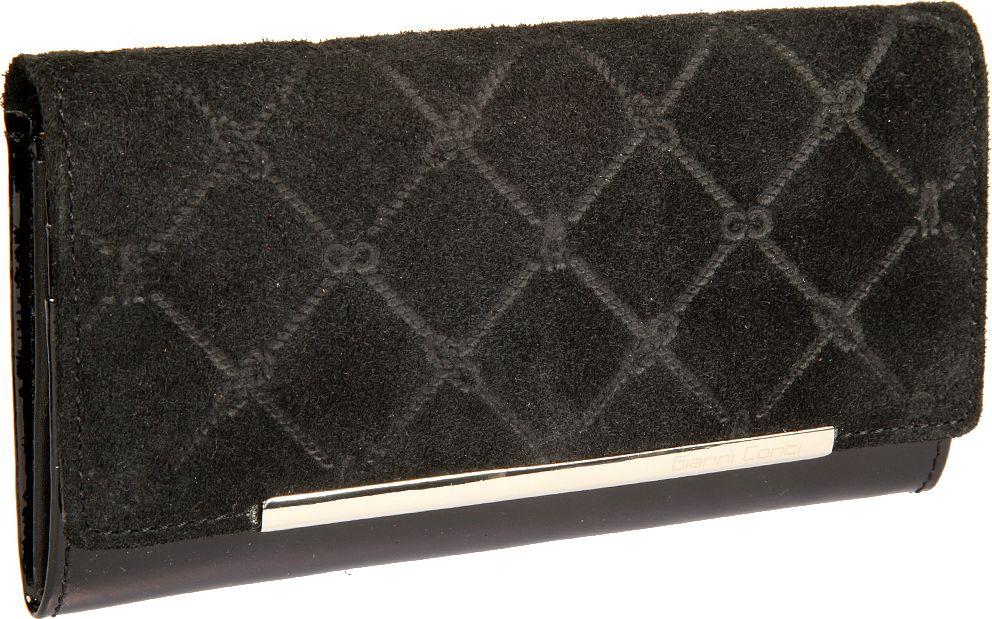 Портмоне женское Gianni Conti, цвет: черный. 36282543628254закрывается широким клапаном на кнопке внутри два отдела для купюр карман для мелочи на молнии три кармана для документов десять кармашков для пластиковых карт