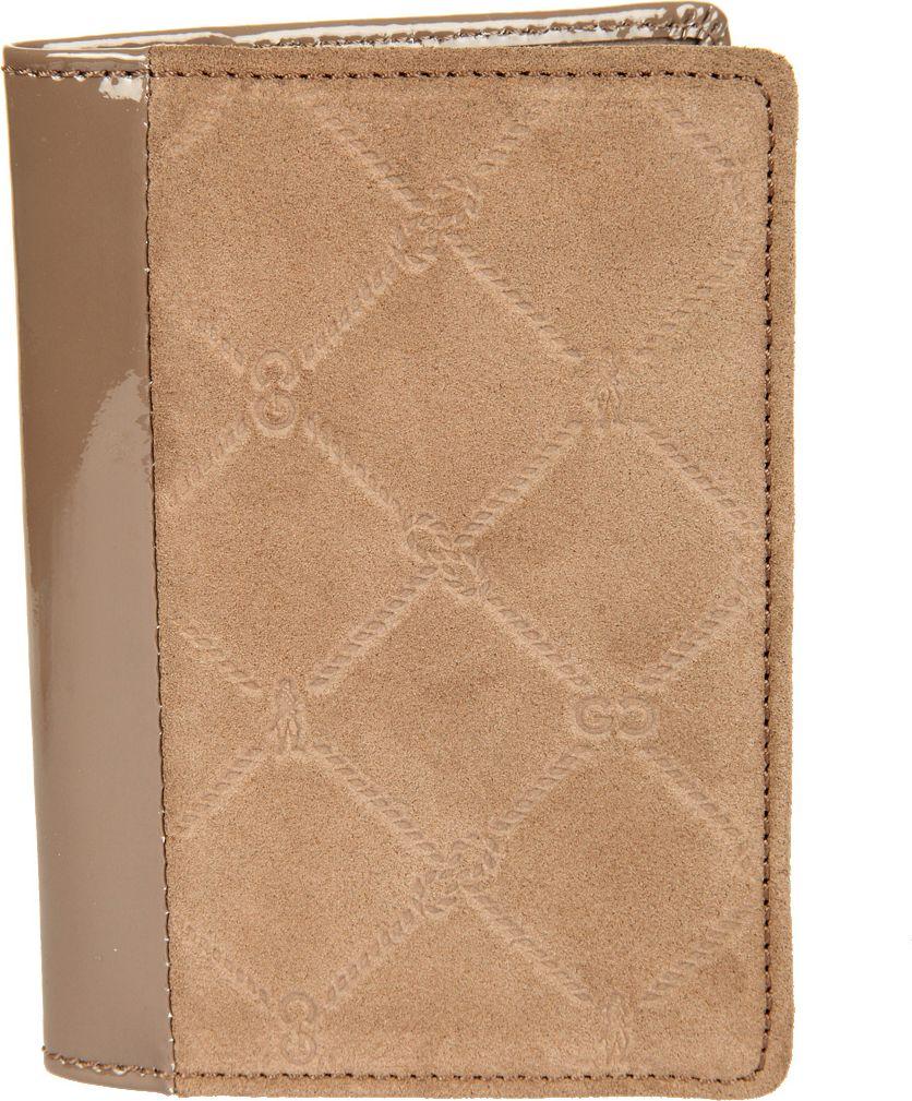 Обложка для паспорта женская Gianni Conti, цвет: серо-бежевый. 36274553627455раскладывается пополам внутри левое поле натуральная кожа (3 см) правое поле натуральная кожа (7 см) шесть кармашков для пластиковых карт