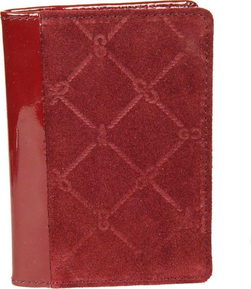 Обложка для паспорта женская Gianni Conti, цвет: бордовый. 36274553627455раскладывается пополам внутри левое поле натуральная кожа (3 см) правое поле натуральная кожа (7 см) шесть кармашков для пластиковых карт