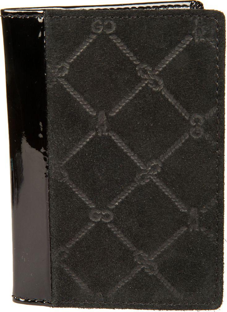 Обложка для паспорта женская Gianni Conti, цвет: черный. 36274553627455раскладывается пополам внутри левое поле натуральная кожа (3 см) правое поле натуральная кожа (7 см) шесть кармашков для пластиковых карт