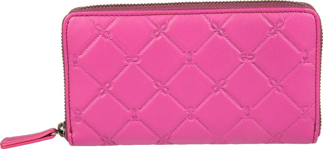 Портмоне женское Gianni Conti, цвет: розовый. 35881063588106закрывается на молнию по периметру внутри четыре отдела для купюр отдел для монет на молнии два кармана для документов восемь кармашков для пластиковых карт