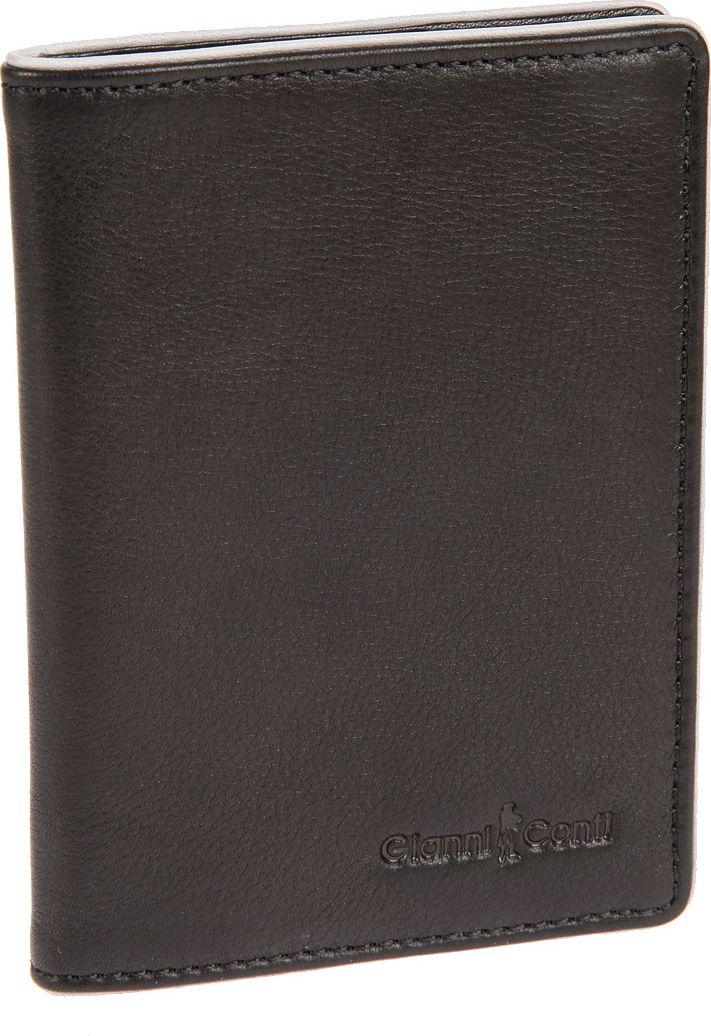 Обложка для паспорта мужская Gianni Conti, цвет: черный. 17574931757493 black greyобложка раскладывается пополам внутри левое поле из натуральной кожи (4 см) правое поле из натуральной кожи (3.5 см)