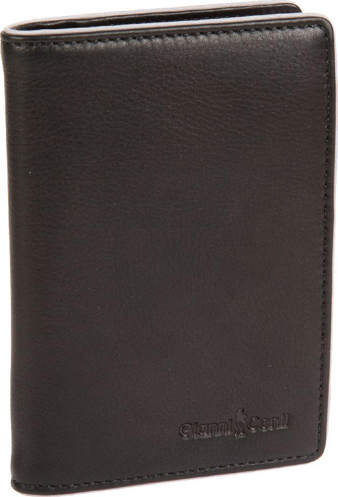 Обложка для автодокументов мужская Gianni Conti, цвет: черный. 17574561757456 black greyраскладывается пополам внутри съемный блок прозрачных файлов для автодокументов четыре кармана для документов восемь кармашков для пластиковых карт два сетчатых кармана