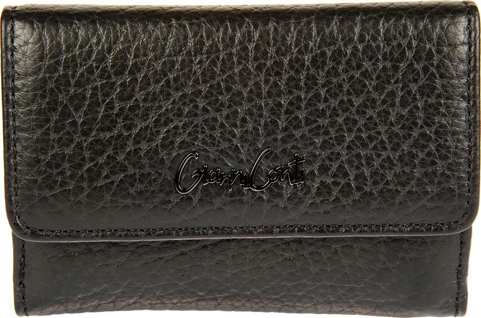 Портмоне женское Gianni Conti, цвет: черный. 15482611548261закрывается клапаном на кнопке внутри два отдела для купюр три кармана для документов восемь кармашков для пластиковых карт двойное отделение для монет на молнии снаружи, на задней стенке, карман