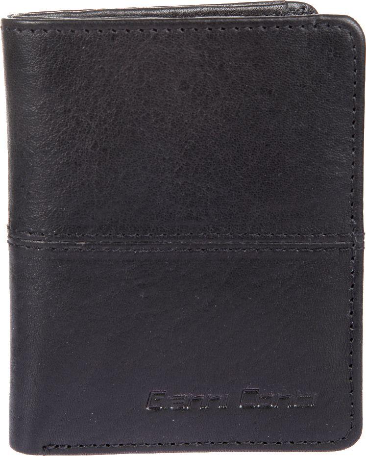 Портмоне мужское Gianni Conti, цвет: черный. 1137387E1137387E blackраскладывается пополам внутри отделение для купюр восемь кармашков для пластиковых карт