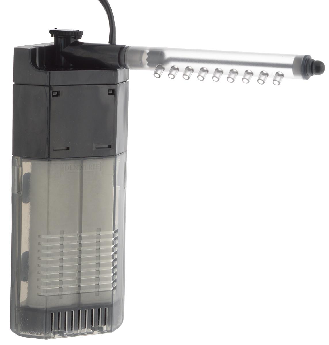Фильтр для аквариумов Dennerle Nano Clean Eckfilter, угловой, 150 л/ч, 2 ВтDEN5925Dennerle Nano Clean Eckfilter – это мощный угловой фильтр с насосом производительностью 150 литров в час. Помпа работает так ровно и тихо, что ее практически не слышно. Энергопотребление составляет всего 2 Вт, что сохраняет природные ресурсы. Поток воды можно плавно регулировать и направлять при помощи поворотной форсунки на 90° в любую сторону. Фильтр оснащён форсункой со встроенной заслонкой и миниатюрной щёткой для её очистки. Благодаря узким заборным отверстиям и тонкопористой губке предварительной фильтрации Dennerle Nano Clean Eckfilter также безопасен для молоди креветок. Чистить фильтрующие элементы очень легко: просто возьмитесь за трубку слива и потяните вперёд. Задняя часть корпуса фильтра останется в аквариуме. Чтобы избежать гибели важных фильтровальных бактерий, промойте фильтрующий элемент в чистом ведре с аквариумной водой.