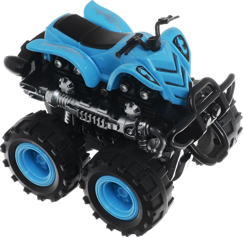 Big Motors Квадроцикл инерционный 4 WD цвет синий806B_синийКвадроцикл инерционный Big Motors 4WD станет любимой игрушкой вашего малыша. Игрушка представляет собой мощный квадроцикл с большими колесами. Игрушка оснащена инерционным механизмом. Достаточно немного подтолкнуть ее вперед или назад, а затем отпустить, и она сама поедет в ту же сторону. Ваш ребенок будет увлеченно играть с этим квадроциклом, придумывая различные истории. Порадуйте его таким замечательным подарком!
